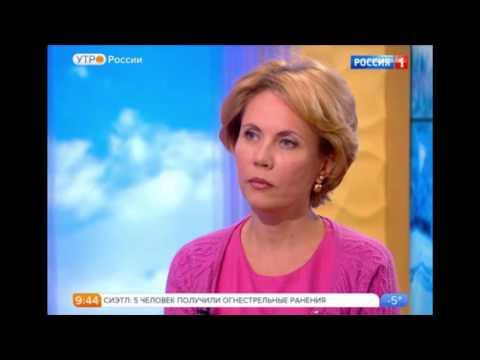 Диетолог Лидия Ионова с Анастасией Чернобровиной и Андрем Петровом на Утро России