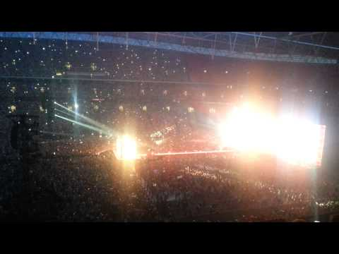 1D centre stage Wembley Stadium view from block 501