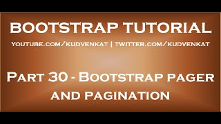 Bootstrap pager and pagination thumbnail