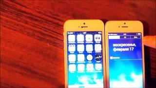 Сравнение китайских копий iPhone5s mtk6577 и iPhone 5s mtk6572