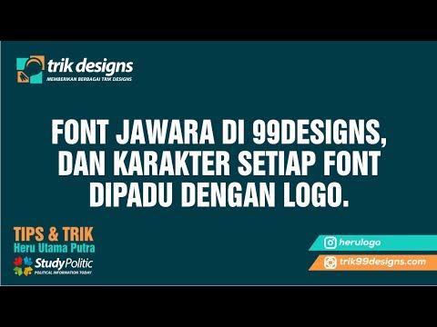 99designs, FONT JAWARA DI 99DESIGNS, dan karakter setiap font dipadu dengan LOGO.