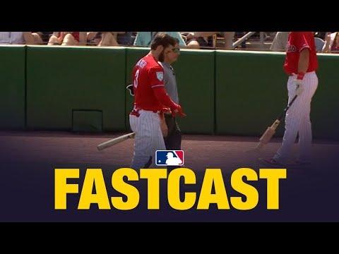 MLB.com FastCast: Harper lifted after HBP - 3/15/19