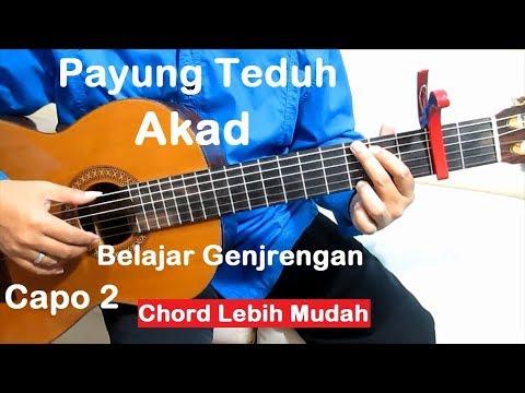 (Capo 2) Genjrengan Akad Payung Teduh - Belajar Gitar Strumming Untuk Pemula