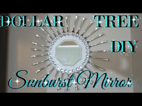 DIY DOLLAR TREE SUNBURST MIRROR | PINTEREST INSPIRED | PETALISBLESS🌹