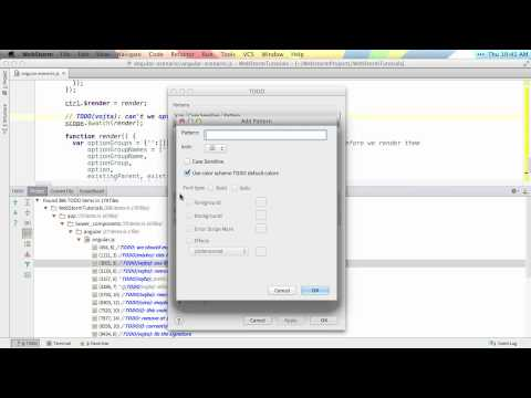 Todos - WebStorm Video Tutorial
