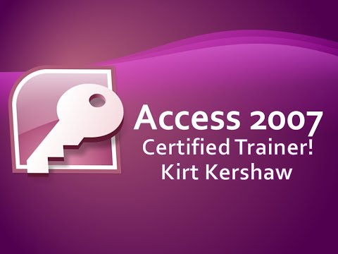 Access 2007 Basics Training Video
