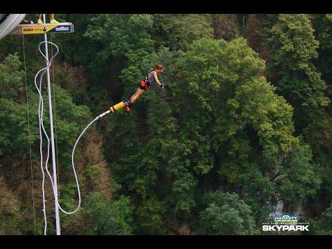 прыжок с тарзанки 207 метров Сочи Skypark.Bungy