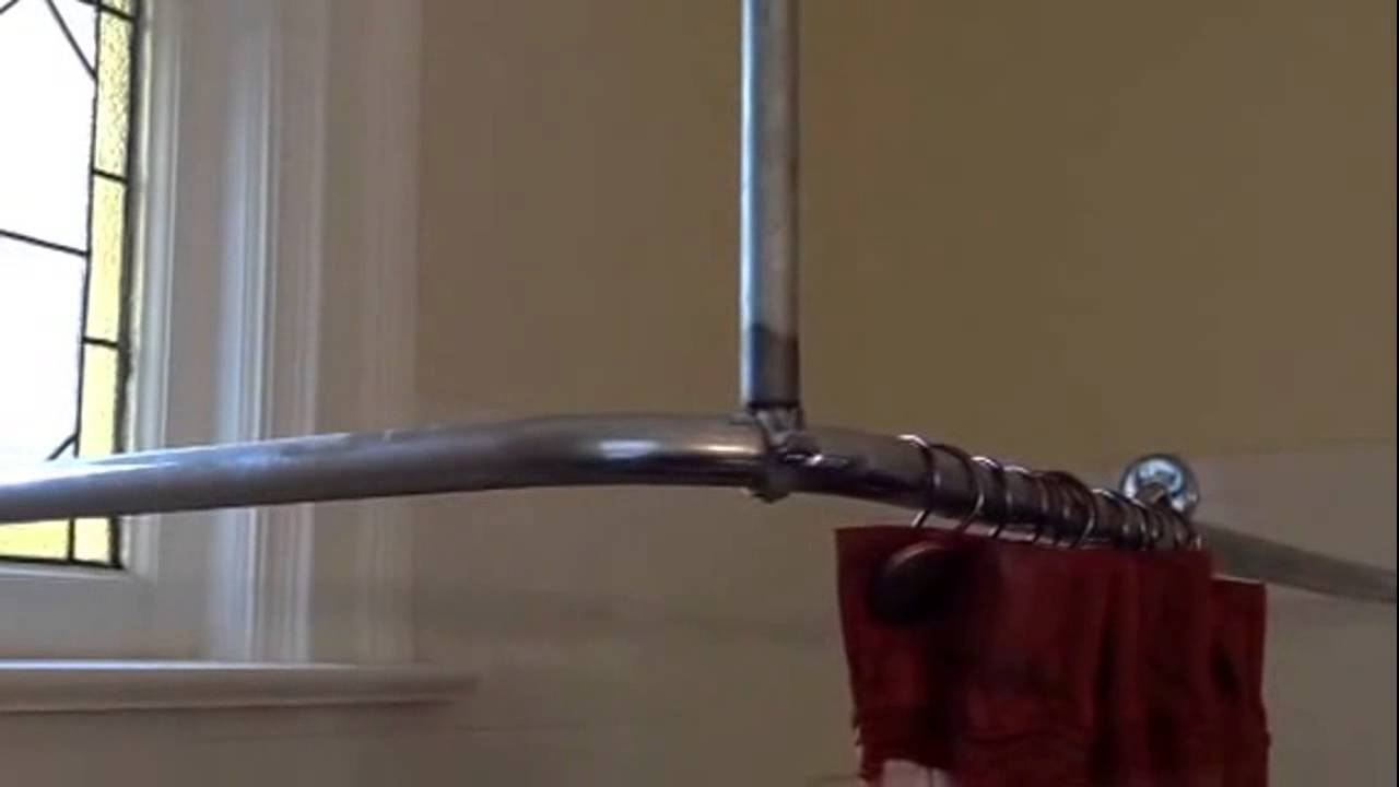 How to make shower curtain rod support - YouTube