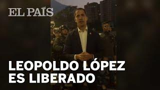 LEOPOLDO LÓPEZ ES LIBERADO y GUAIDÓ comparece junto a él en VENEZUELA