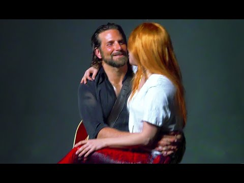A Star Is Born behind-the-scenes footage Lady Gaga Bradley Cooper Barbra Streisand