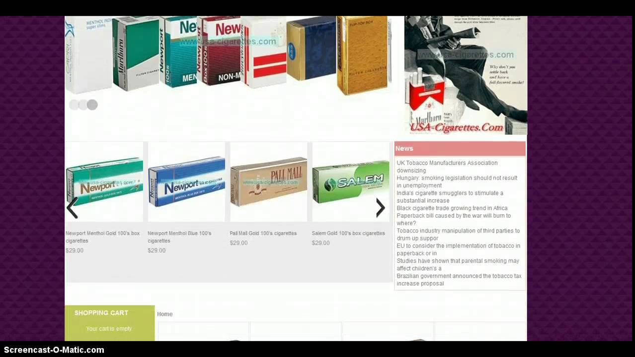 Cigarettes import France