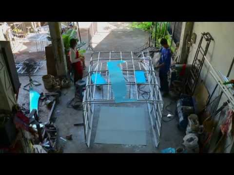 Roof for car : Time lapse video