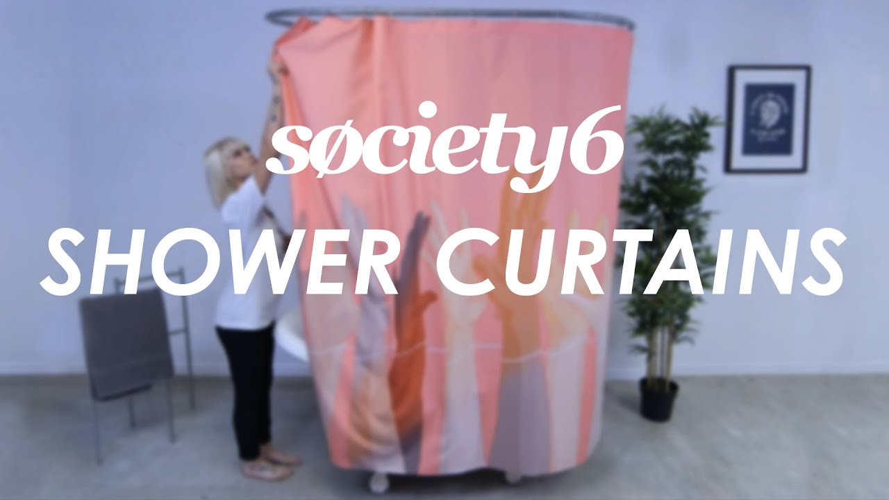shower curtains from society6 - product video - youtube