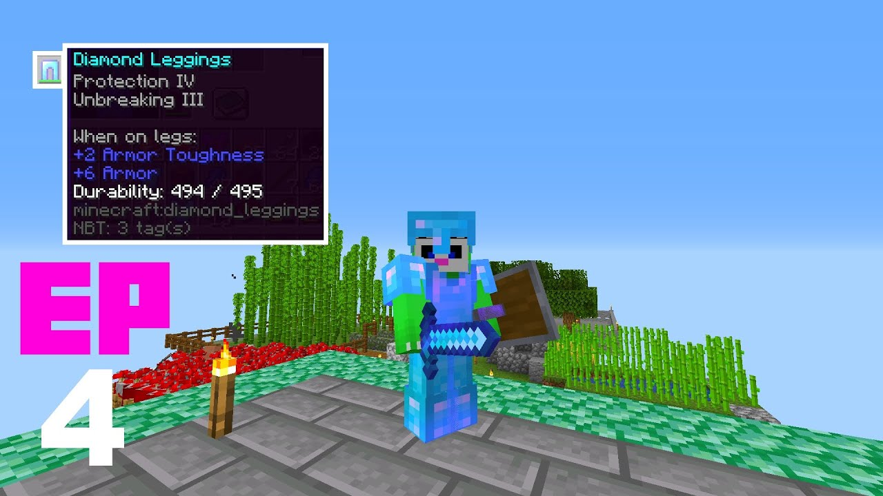 Minecraft en 1 bloque - EP4 - Estoy MUY OP