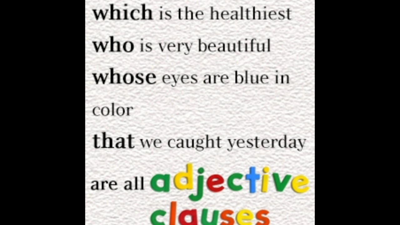 definition adjective clause