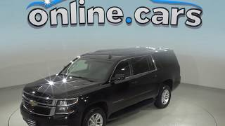 A99080TR Used 2018 Chevrolet Suburban LT 4WD SUV Black Test Drive, Review, For Sale