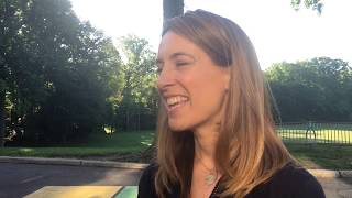 Mikie sherrill, who is running for the open seat in nj's 11th congressional district, talks about primary election after voting montclair tuesday morn...