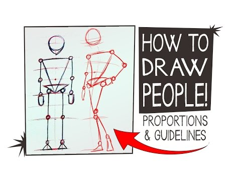 HOW TO DRAW PEOPLE - simple tips on proportions & Guidelines