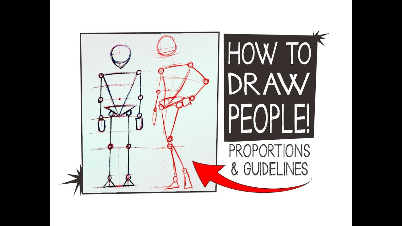 how to draw people proportions guidelines hta 10 youtube
