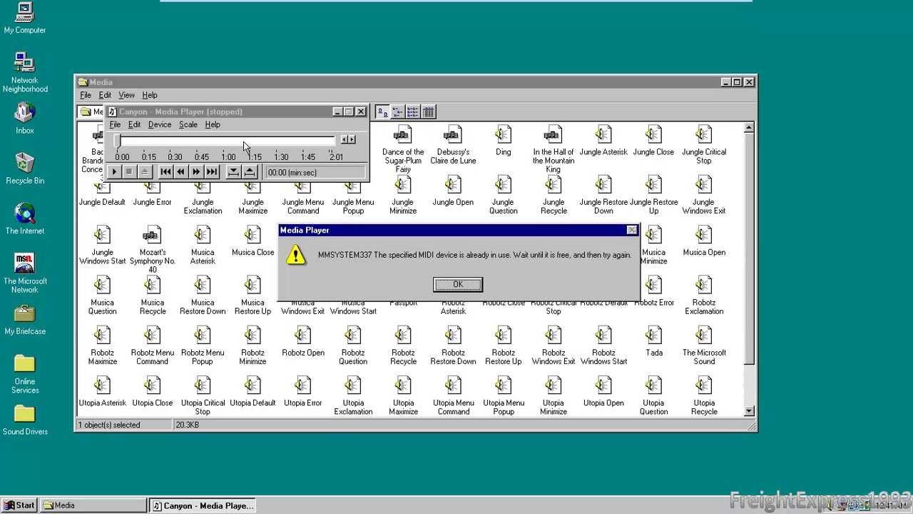 Installing The Creative Esoniq PCI Driver on Windows 95 in VM-Ware Player