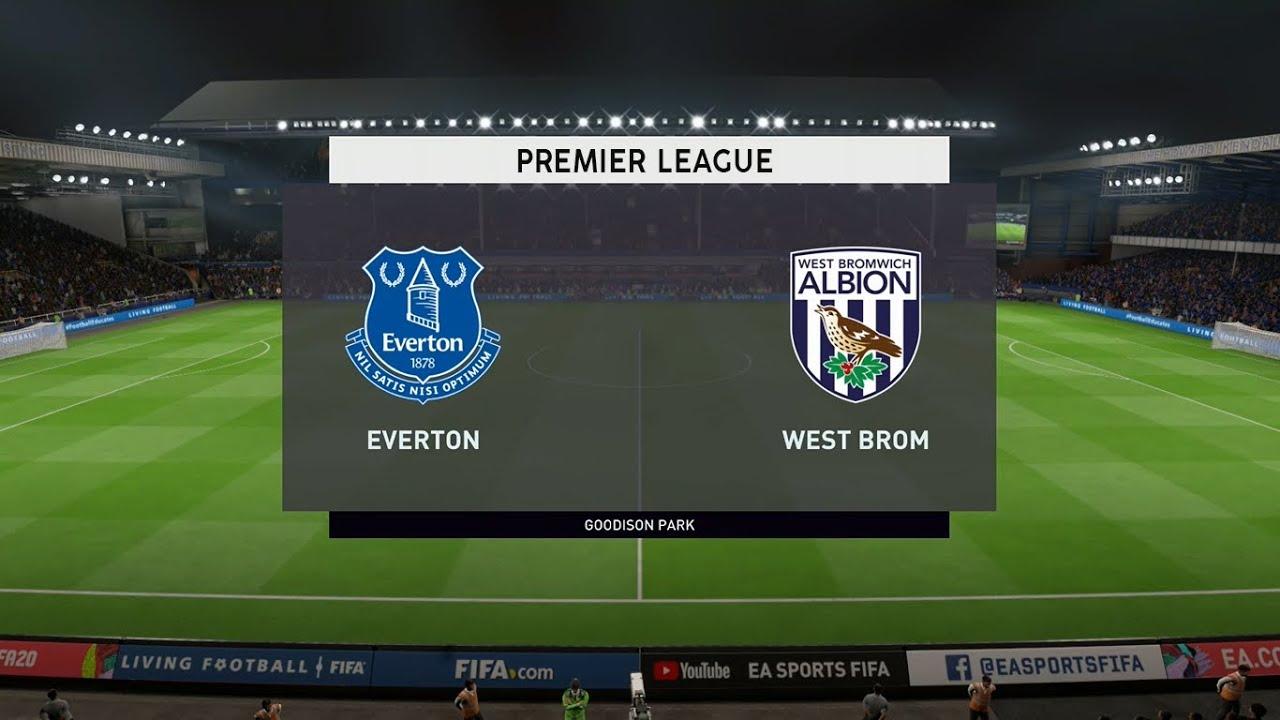 Everton Vs West Brom Premier League 19 09 2020 Fifa 20 Youtube