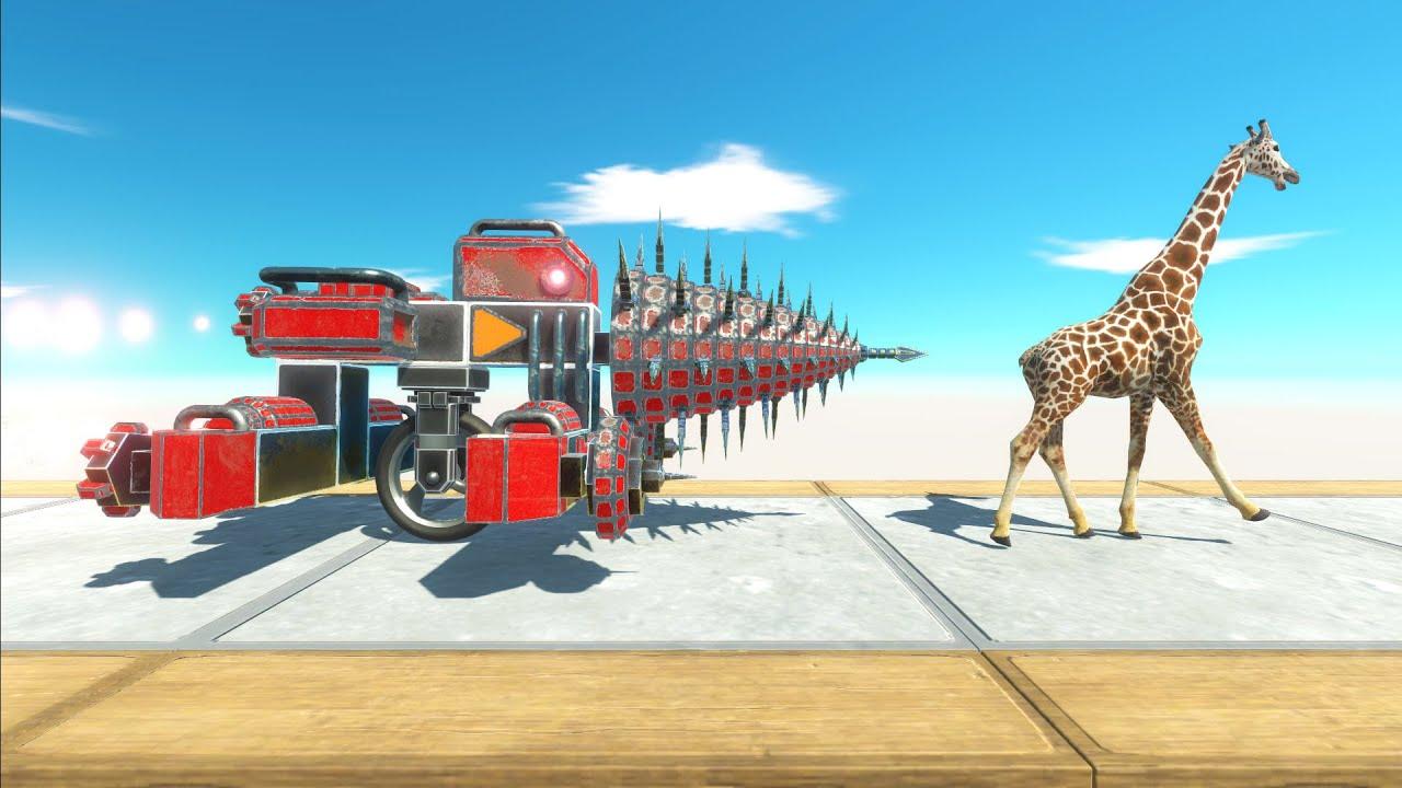 Run Away Drill Truck - Animal Revolt Battle Simulator