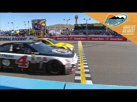 Harvick by a hair over Edwards