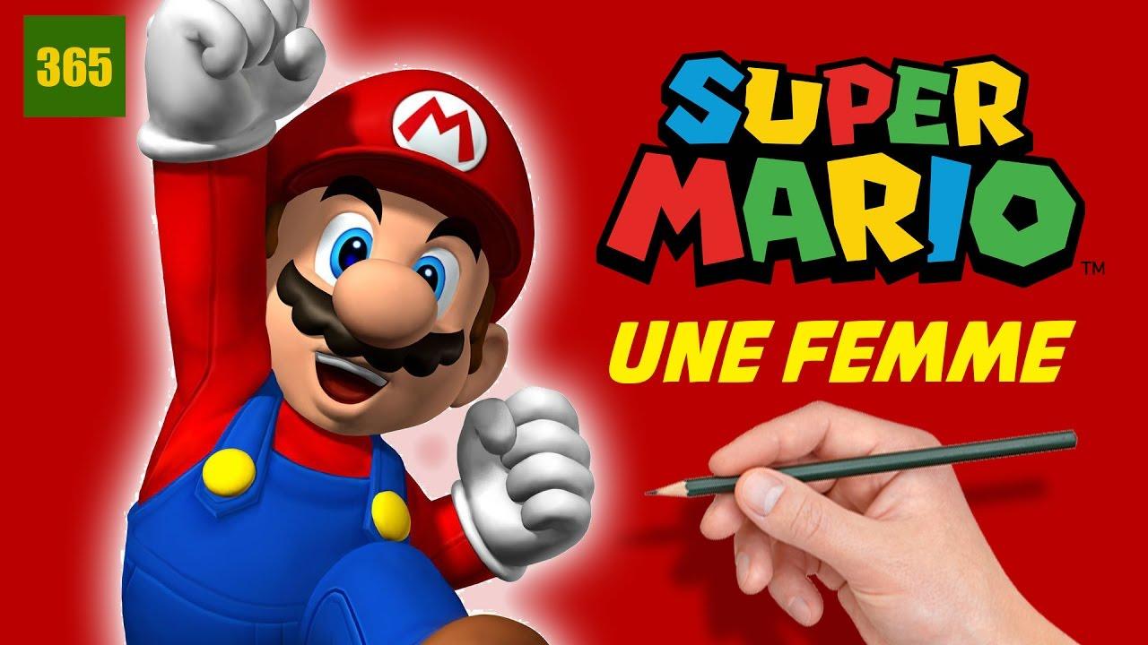 Comment Dessiner Super Mario Une Femme Art Challenge Comment Dessiner Mario Bros