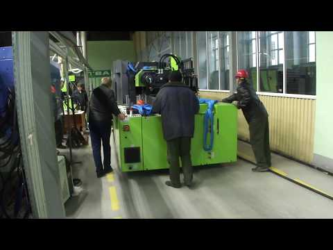Heavy extruder  (20.000 kg) moved on Air Casters from Aerofilm Systems