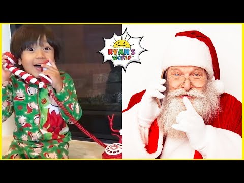 Ryan Talked To Santa Claus on the phone and play Christmas Games!!!