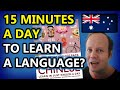 15 minutes a day to learn a language?