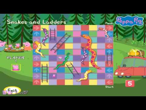 PEPPA PIG   Puddle of Fun   Snakes and Ladders   #7   Walkthrough  PC GAME
