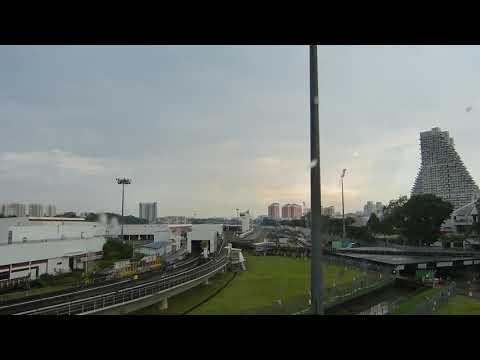 Naik MRT Singapura Ke Stasiun Bishan   Ride MRT North South Line to Bishan Station