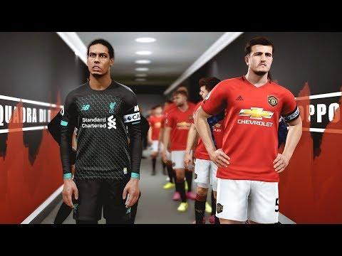 Man United vs Liverpool (COM vs COM) with New Signings | PES 2019