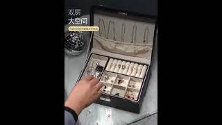 가정용 귀걸이 목걸이 반지 보관함 상자 잠금장치 열쇠