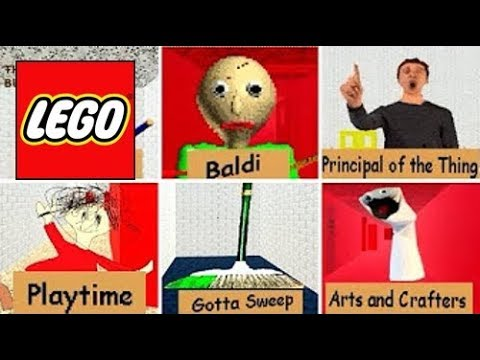How To Build: LEGO All Characters Baldi's Basics | In Education And Learning Compilation!