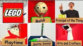 How To Build LEGO All Characters Baldi s Basics In Education and Learning Compilation