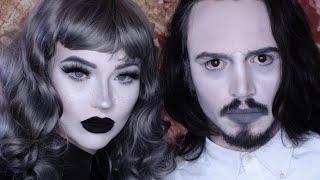 greyscale makeup tutorial / boyfriend does makeup / black & white illusion