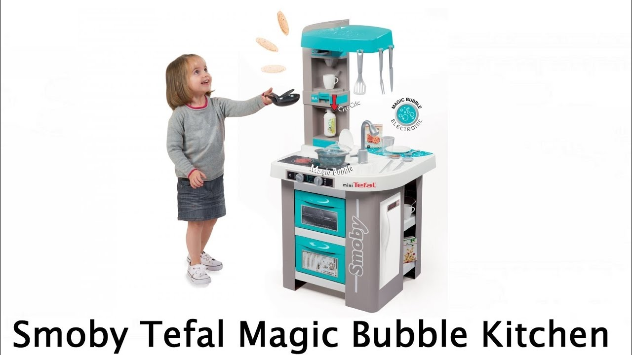Smoby Tefal French Touch Bubble Küche Mit Wasserfunktion Smoby Kids Tefal Magic Bubble Childrens Toy Kitchen - Youtube