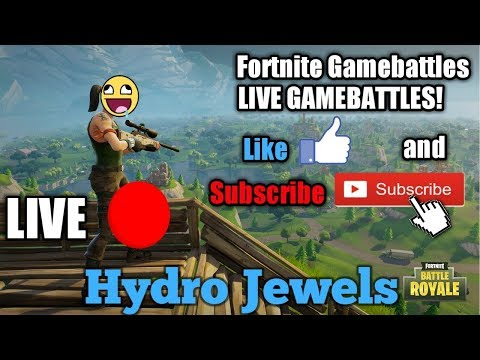 FORTNITE GAMEBATTLES//LEVEL 60+//LIVE WITH HYDRO JEWELS (INTERACTIVE STREAMER)