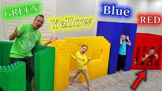 Building GIANT LEGO Houses in Your Color! Who Wins?