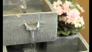 4-tier Cascade Solar Water Feature Planter