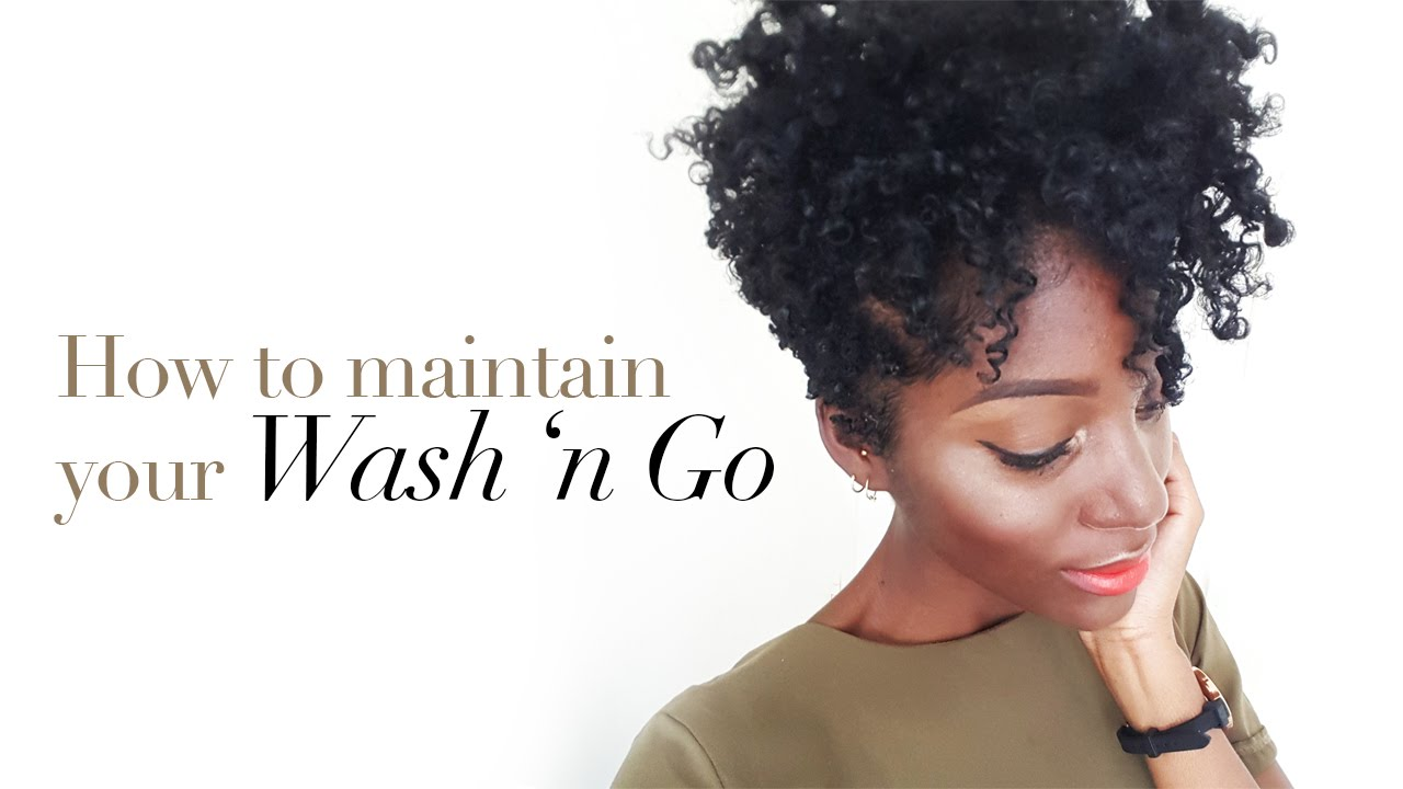 natural hair| how to maintain a wash n go | tapered cut