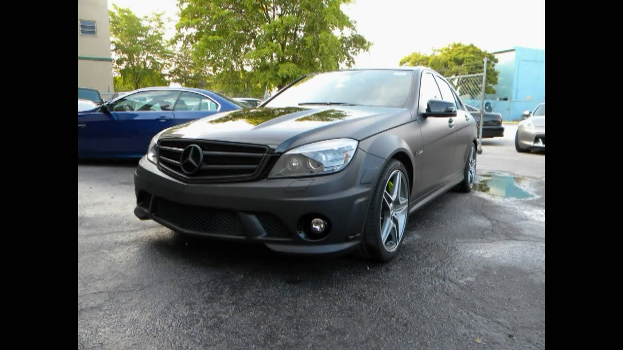 2010 mercedes benz c63 amg car wrap matte black by cartel for 2010 mercedes benz c63 amg