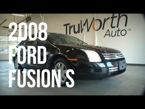 2008 Ford Fusion S - Clean CARFAX - 5-Speed Manual Transmission - TruWorth Auto