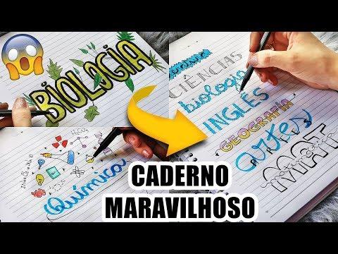 CADERNO LINDO E ORGANIZADO #7 - IDEIAS DE TÍTULOS DECORADOS E CAPAS DE MATÉRIAS