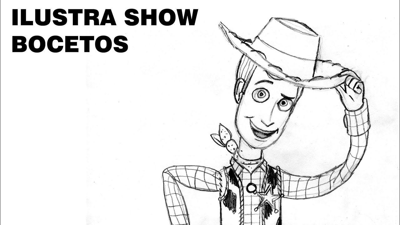 Cmo dibujar a WOODY de TOY STORY Tutorial ILUSTRA SHOW  YouTube