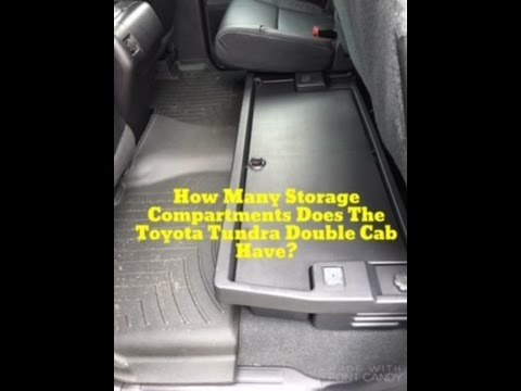 how much storage space is there in the toyota tundra double cab plus a rear headrest lesson. Black Bedroom Furniture Sets. Home Design Ideas