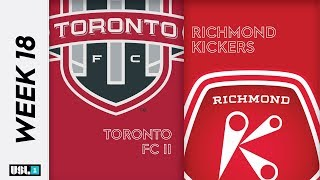 Toronto FC II vs. Richmond Kickers: July 26th, 2019