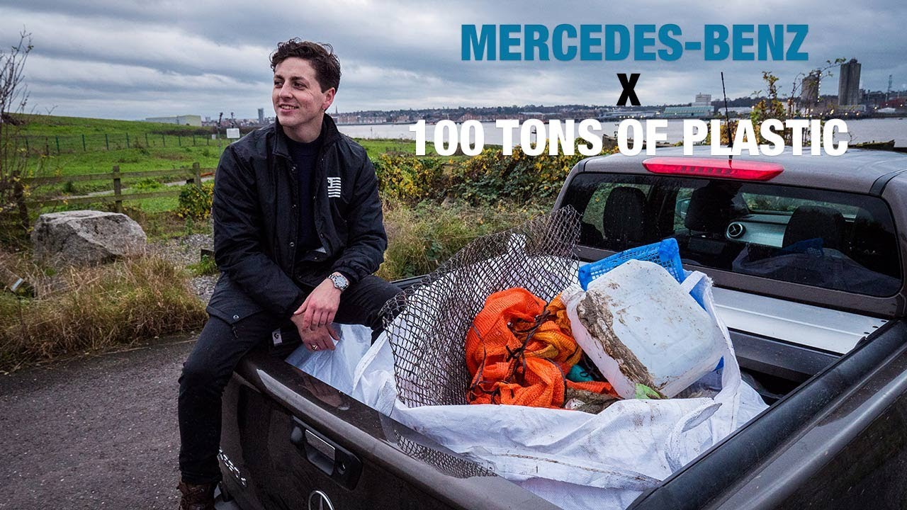 100 Tons of Plastic x Mercedes X-Class Thames Cleanup